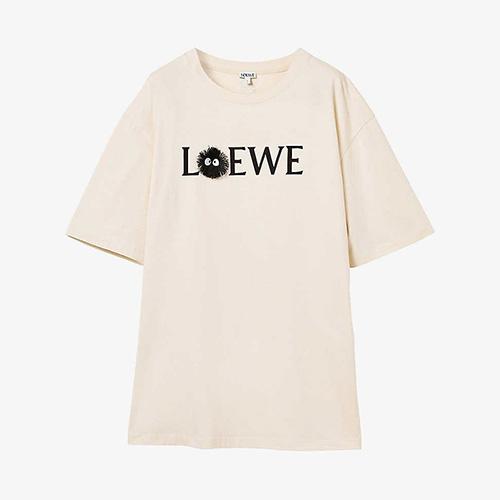 [UNISEX] 黒キャラクタロゴTシャツ/半袖