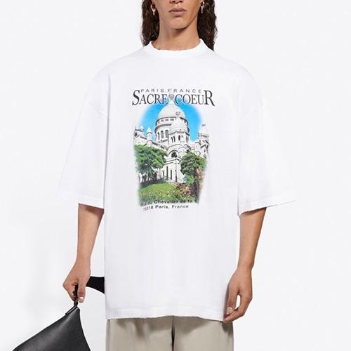 [UNISEX] サクレクールダメージTシャツ/半袖