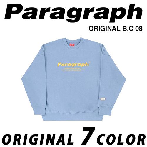 ●正規品● [21SS/Paragraph] ヘリテージVER2スウェットシャツ/トレーナー/MTM/オリジナル/パラグラフ/新着/正規品パラグラフ/ORIGINAL PARAGRAPH