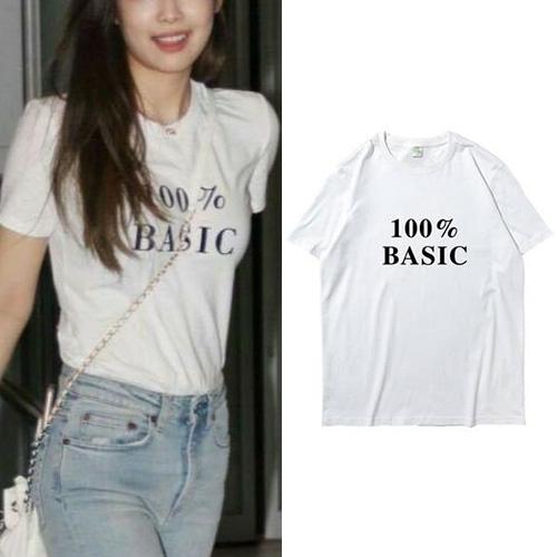 BLACKPINK/JENNIE/ブラックピンク/ジェニー st. 100% ベーシックtシャツ/半袖 (2color)