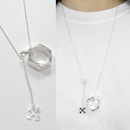 [UNISEX] アローネックレス指輪セット