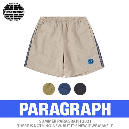 ●正規品●[PARAGRAPH/パラグラフ] テーピングブルーパッチショーツ/短パン (4color)