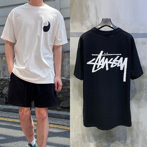 [UNISEX] 陰陽ロゴTシャツ/半袖 (2color)