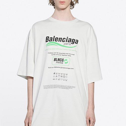 [UNISEX] リサイクルファッションTシャツ/半袖 (2color)
