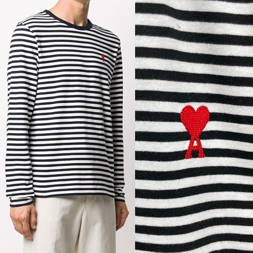 [UNISEX] ストライプハートTシャツ/長袖