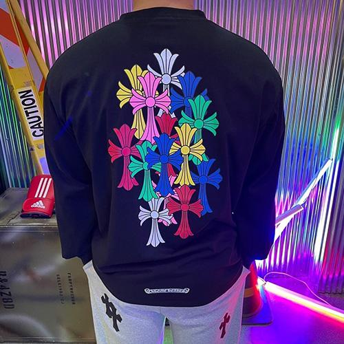 [UNISEX] マルチクロスロングスリーブTシャツ/長袖 (2color)