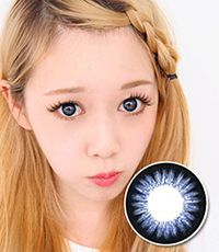【Yearly / 2 Lenses】 GLAM Madonna Blue   14.0mm /058