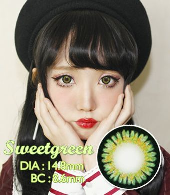 【Yearly / 2 Lenses】 ICK Sweet 3 Green  /667