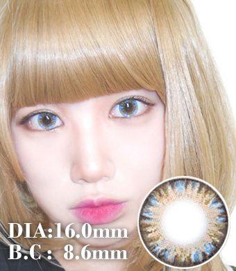 【 Yearly / 2 Lenses】 VASSEN Rainbow Eyes Blue /619