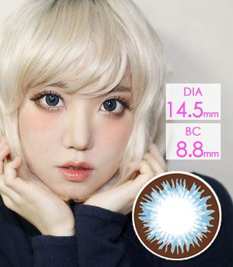 【 Yearly / 2 Lenses】 Denise  Blue (VF)  /1206
