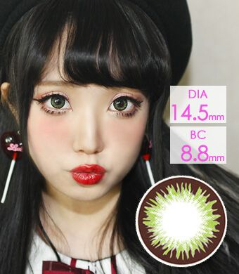 【 Yearly / 2 Lenses】 Denise  Green (VF) /1207