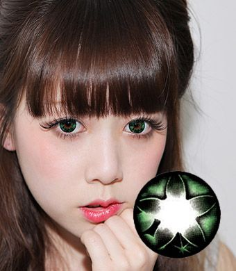 【Yearly / 2 Lenses】 Secret big star CF Green /075