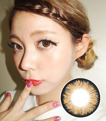【Hydrogel】 Maxlook Pinky Brown contacts 14.3mm /424