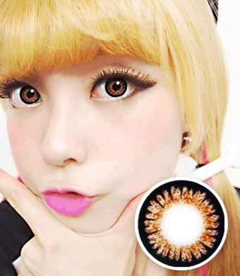 【 Yearly / 2 Lenses】 ICK Sweet 3 Brown  /665