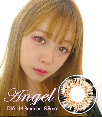 【 Yearly / 2 Lenses】 Angel  BROWN /1342
