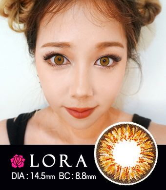 【 Yearly / 2 Lenses】 Lora MS  Brown/ 1447
