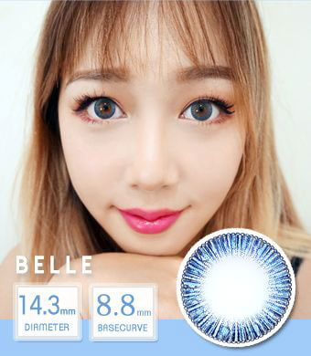 NEW 【 Yearly / 2 Lenses】 Belle blue /1441