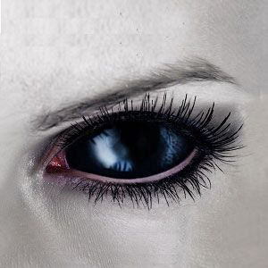 【Cosplay / 2 Lenses】 Black Vampire Sclera Contacts 2202 / 22mm / 1489