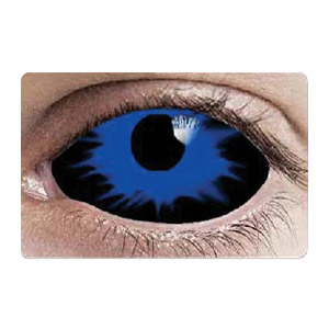【Cosplay / 2 Lenses】 Blue Night King Sclera Contacts 2219 / 22mm / 1542