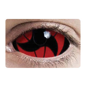 【Cosplay / 2 Lenses】  Itachi Mangekyo - Naruto Sclera 2213 / 22mm / 1546
