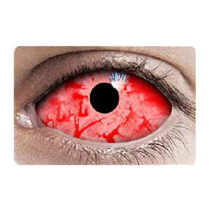 【Cosplay / 2 Lenses】 Red Zombie Sclera 2242 / 22mm / 1548
