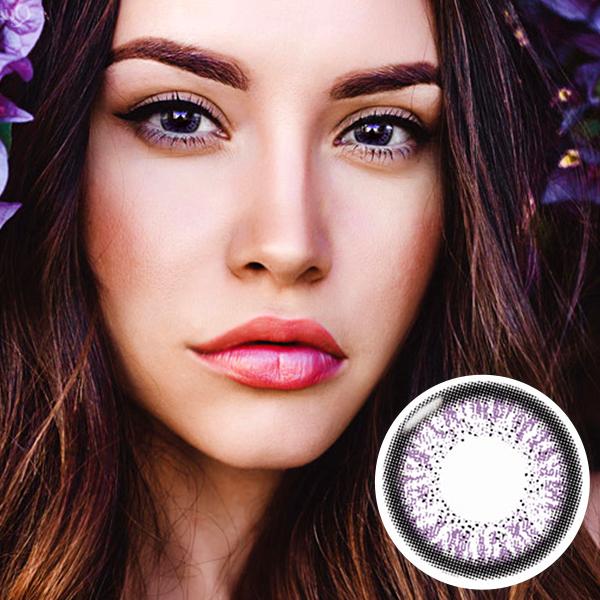 【Yearly / 2 Lenses】 Skinny Hazel Violet  /160