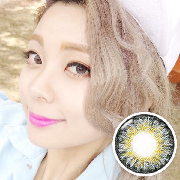 【 Yearly / 2 Lenses】 Chloe / 14.5mm / gray   / 1002