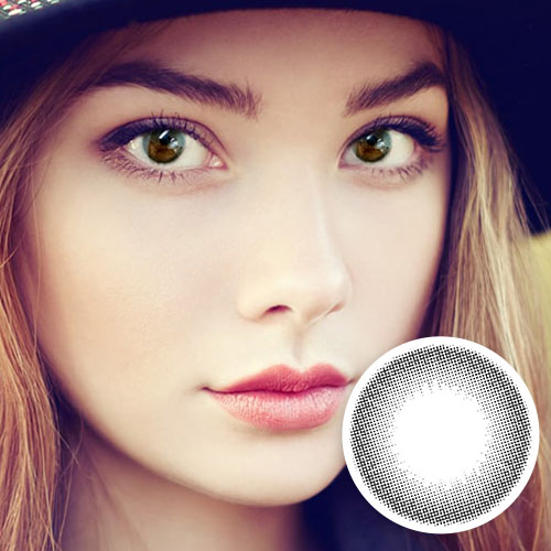 【2 Toric Lenses / 12month】  Angel Eyes Black  /1600