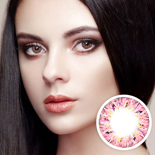【Yearly / 2 Lenses】 VILLEA Pink /1264