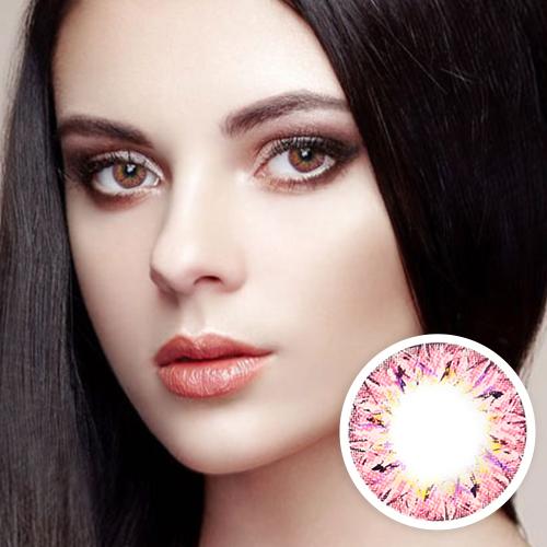 [Hyperopia/12month] VILLEA Pink  /1315 </br> DIA:14.5mm(~ +4.00)
