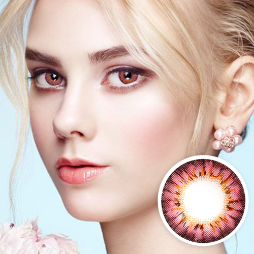 【2 Toric Lenses / 12month】 Bess (A133) Pink toric 180 AXIS /1281 </br>
