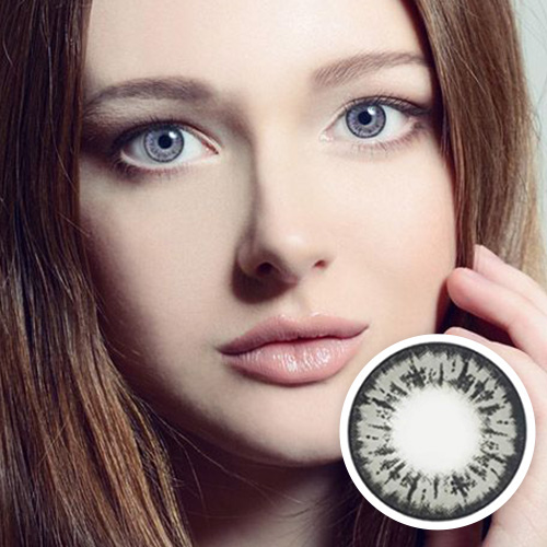 【2 Toric Lenses / 12month】  Barbie Gray toric 180 AXIS /1381</br>