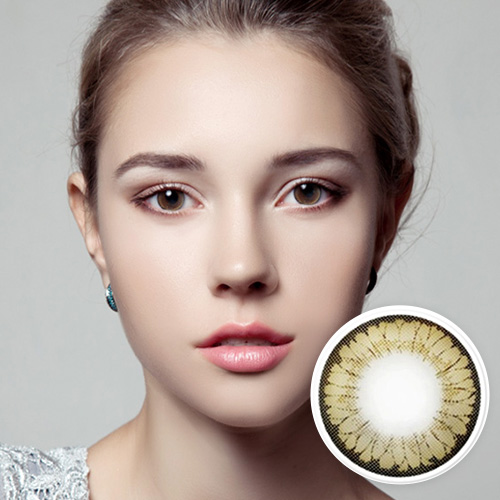 【2 Toric Lenses / 12month】  STARWAY brown toric 180 AXIS 1379 </br>