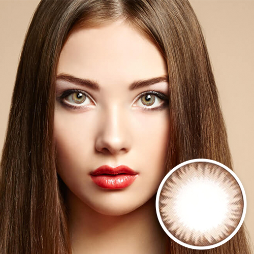 【2 Toric Lenses / 12month】 Maxlook SCL C  Brown / Silicon Hydrogel /1437 </BR>