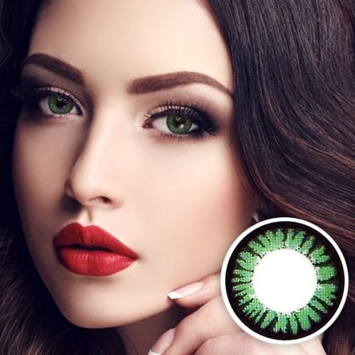 【2 Toric Lenses / 12month】 Cara Green / 519 <br>