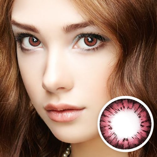 【2 Toric Lenses / 12month】 Avril (A132) Pink toric 180 AXIS /1271 </br>