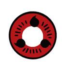 度あり【 最高品質 コスプレ用 2枚】 [写輪眼-T05 ]ナルト キャラクター  Itachi T05  /855