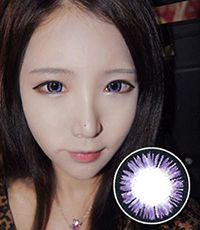 """<FONT COLOR=""""4697f2""""> [ Lucky! ¥590]</FONT>【最長1年使用・両目2枚】  Aurora Violet / 146 </BR>"""