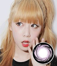 """<FONT COLOR=""""4697f2""""> [Lucky ¥790]</FONT>【最長1年使用・両目2枚】 Pop (B400) Violet / 196</BR>"""