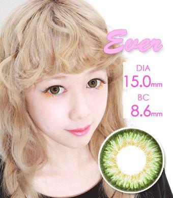 【1年カラコン】VASSEN Ever Green / 037</BR>DIA:15.0mm, 度あり‐8.00まで