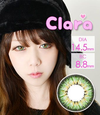 """<FONT COLOR=""""4697f2""""> [ Lucky! ¥990]</FONT>【1年カラコン】 Clara Green / 241</BR>"""
