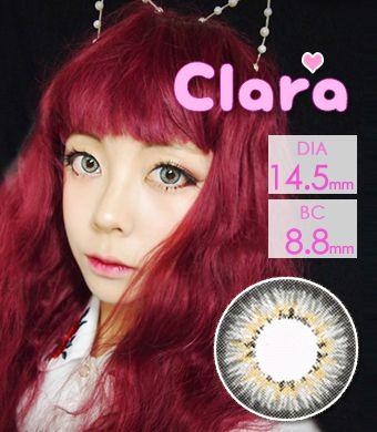 【1年カラコン】 Clara Gray / 238</BR>DIA:14.5mm, 度あり‐10.00まで