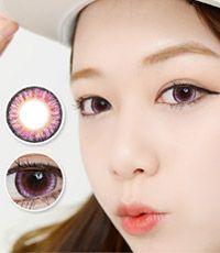 【1年カラコン】VASSEN エンジェルケイゼン Violet / 623 </BR>DIA:16.0mm, 度あり‐8.00まで