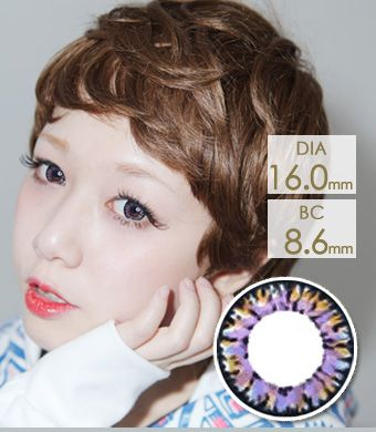 【1年カラコン】VASSEN Ic4 Super Pinky Blue / 628</BR>DIA:16.0mm, 度あり‐8.00まで