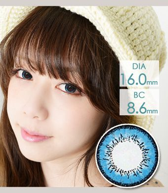 【1年カラコン】VASSEN フェアリー ドーリー Blue / 610</BR>DIA:16.0mm, 度あり‐8.00まで