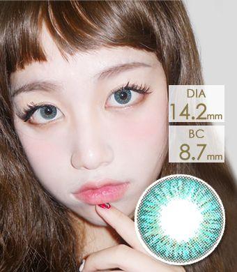 【3ヶ月カラコン】Elegance Aqua / 1154</BR>DIA:14.2mm, 度あり‐10.00まで