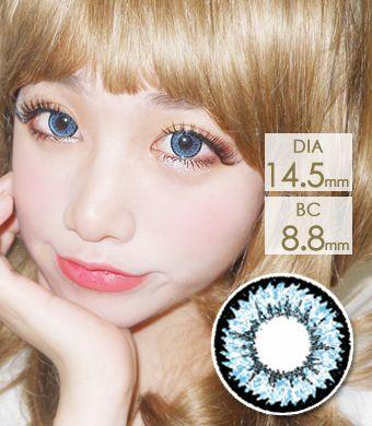 【1年カラコン】Tiffany (Z12) Blue / 1208</BR>DIA:14.5mm, 度あり‐10.00まで