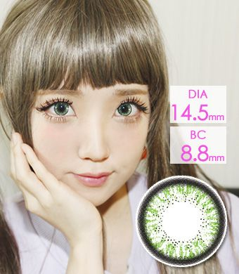 """<FONT COLOR=""""4697f2""""> [ Lucky! ¥990]</FONT>【1年カラコン】 Skinny Hazle green / 1211</BR>"""