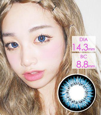 【最長1年使用・両目2枚】 Audrey Blue (AB200) /1214</BR>