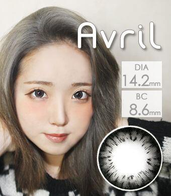 高発色 個性派 【1年カラコン】 Avril (A132) Gray / 1243</br>